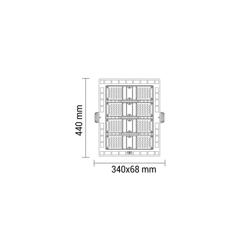 chillitec led deckenleuchte 12w mit bewegungsmelder 29cm. Black Bedroom Furniture Sets. Home Design Ideas